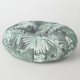 Fern Patten Turquoise Texture Floor Pillow