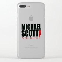 Michael scott Clear iPhone Case