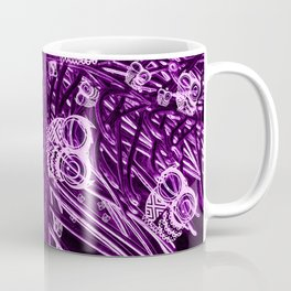 Mosaic of Owls V2 Purple Coffee Mug