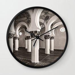 The Historic Arches in the Synagogue of Santa María la Blanca, Toledo Spain (3) Wall Clock