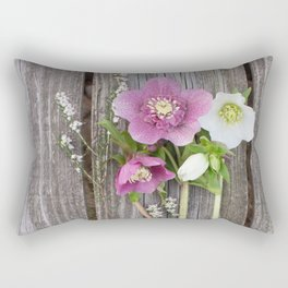 February Bouquet Rectangular Pillow
