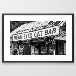 The Mean-Eyed Cat Framed Art Print