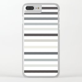 Spacing lines Clear iPhone Case