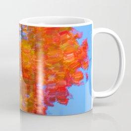 Fall leaves on river 6 Coffee Mug