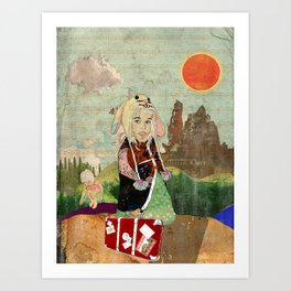 the peculiar adventures of alabee blonde Art Print
