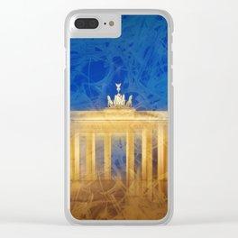Modern Art BERLIN Brandenburg Gate Clear iPhone Case