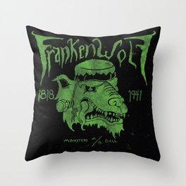 FrankenWolf Throw Pillow