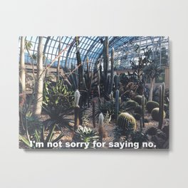 I'm not sorry for saying no Metal Print