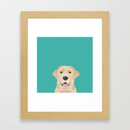 Labrador Retriever golden retriever yellow lab dog breed gifts Framed Art Print
