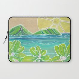 Naupakas in Paradise Surf Art by Lauren Tannehill Laptop Sleeve
