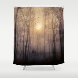 Eternal walk by Viviana Gonzalez Shower Curtain