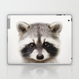 Baby Raccoon, Baby Animals Art Print By Synplus Laptop & iPad Skin