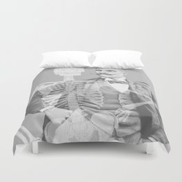 Crown Pursuit -- Black and White Variant Duvet Cover