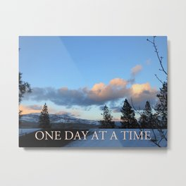 One Day at a Time Rooftop, Hills, and Trees Metal Print