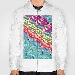Rainbow Mermaid Pattern Hoody