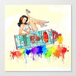 Graffiti Pin Up Canvas Print