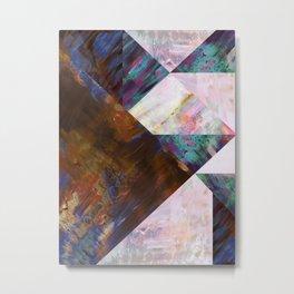 Painted Geometric Metal Print