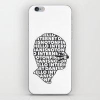 danisnotonfire iPhone & iPod Skins featuring Hello Internet! by ElectricShotgun