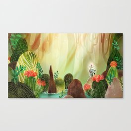 Cactus forest Canvas Print