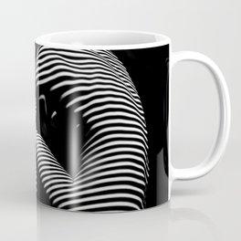 0056-DJA Zebra Back Nude Woman Yoga Black White Abstract Curves Expressive Line Slim Fit Girl Coffee Mug
