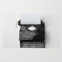Old fashion typewriter Rug
