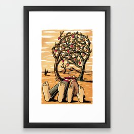 Love Trees Framed Art Print