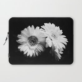 Flowers in Black and White - Nature Vintage Photography Laptop Sleeve