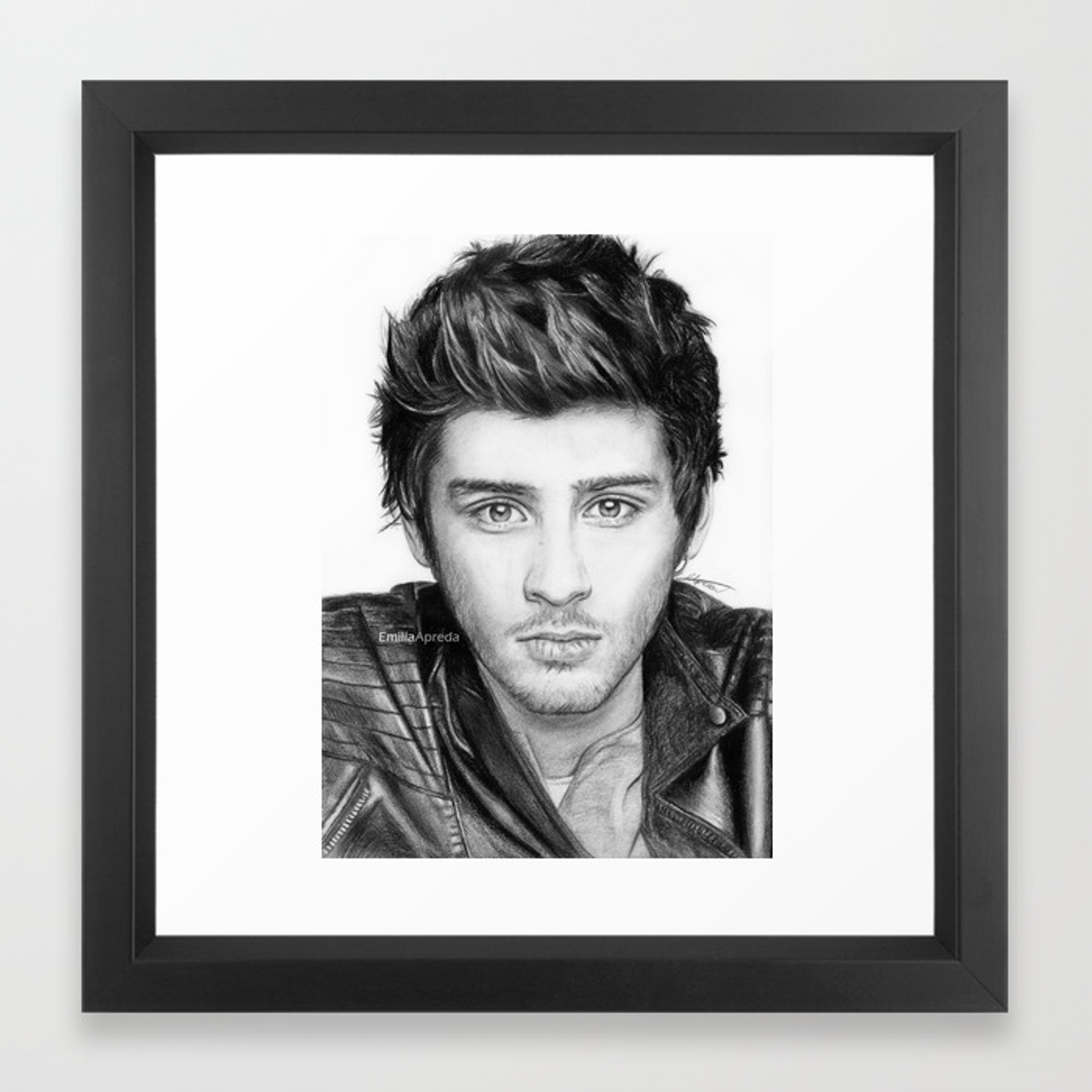 Zayn malik drawing framed art print by emiliaapreda society6