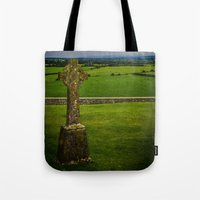 cross Tote Bags featuring Cross by Ashley Hirst Photography
