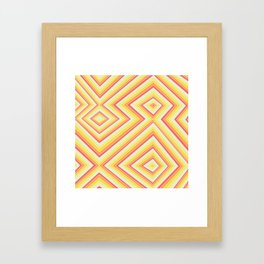 Bright Sunshine - Red, Orange and Yellow Lines - Illusion Art - 57 M Ave Framed Art Print