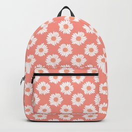 Daisy Repeat Coral Backpack