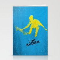 skateboard Stationery Cards featuring skateboard  by Easyposters