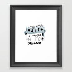 A life lived for art. Framed Art Print