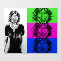fangirl Canvas Prints featuring fangirl by Hivemind Candy