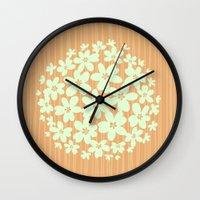hawaiian Wall Clocks featuring Hawaiian Orange by Endless Summer