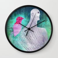 into the wild Wall Clocks featuring Wild by Inmyfantasia