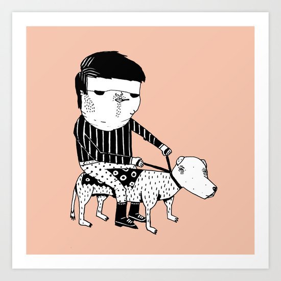 Jack the Dog Rider Art Print