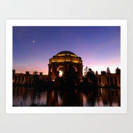 Palace of Fine Arts: First Fall Sunset Art Print