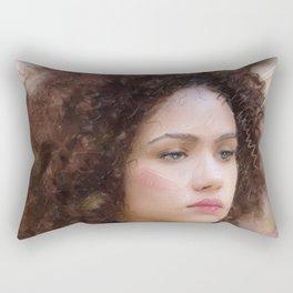 Portrait of Nathalie Emmanuel Rectangular Pillow