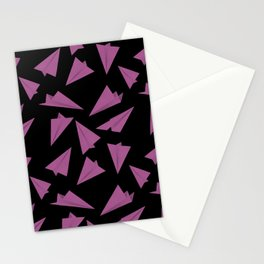 Paper Planes Pattern | Pink Black Stationery Cards