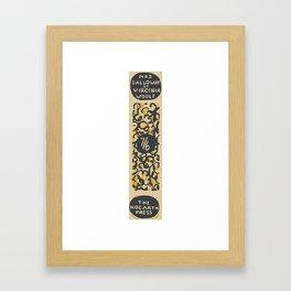 Mrs Dalloway 1925 – Virginia Woolf First Edition Spine Framed Art Print