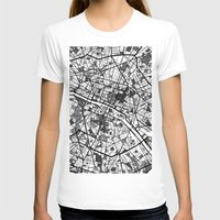paris map T-shirts featuring Paris by Mondrian Maps