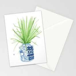 Ginger Jar + Fan Palm Stationery Cards