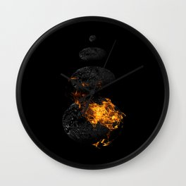 Fire & Ice / Feuer und Eis Wall Clock