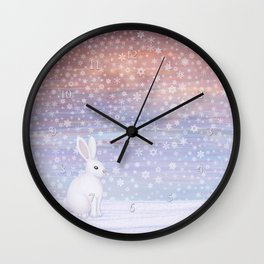 snow bunny Wall Clock