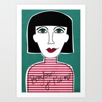 french Art Prints featuring French by Julieta Gutnisky