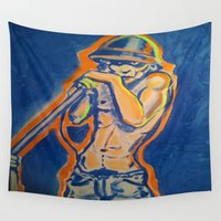 iggy Wall Tapestries featuring IGGY POP  by Punkboy Marti