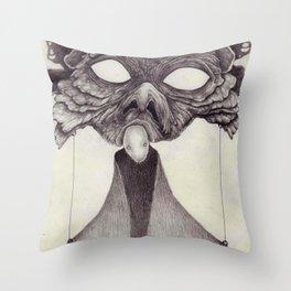 Meeting With Beksinski Throw Pillow