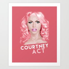 Courtney Act, RuPaul's Drag Race Queen Art Print