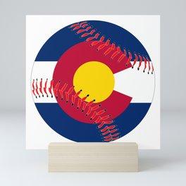Colorado Flag Baseball Mini Art Print